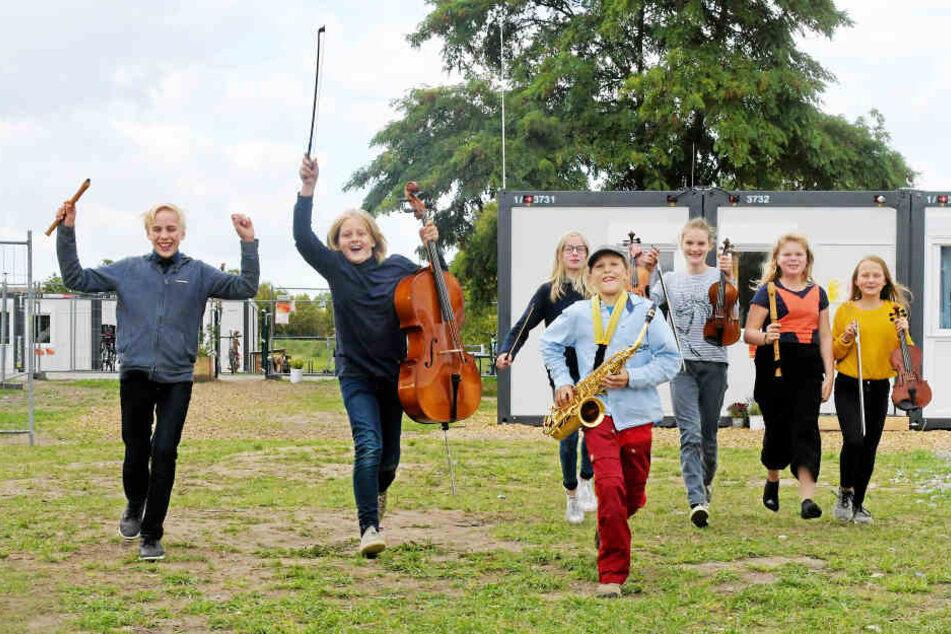 202 Schüler in neun Klassen lernen bereits in der Prohliser Waldorfschule.