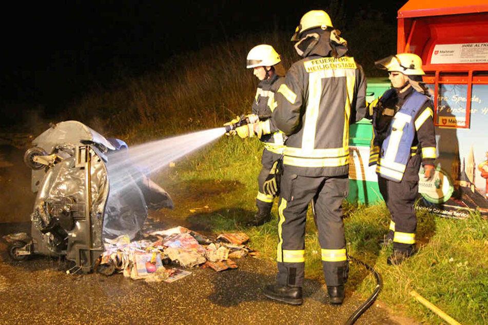 Noch während es im Keller brannte, kam es zu einem weiteren Brand nur wenige hundert Meter weiter.