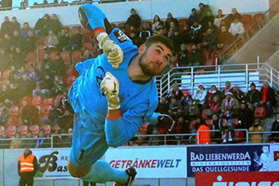 Kann FSV-Keeper Johannes Brinkies, hier  beim 3:0-Sieg im Hinspiel in Aktion, am Samstag auch beim SC Paderborn seinen Kasten  sauberhalten?