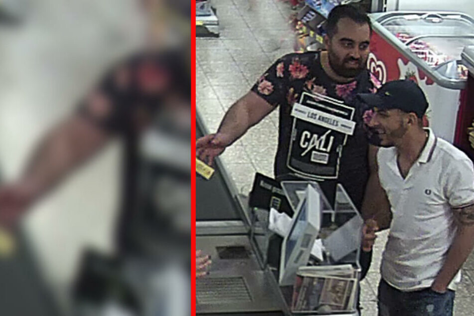Griff in Supermarkt-Kasse: Wer kennt diese Männer?