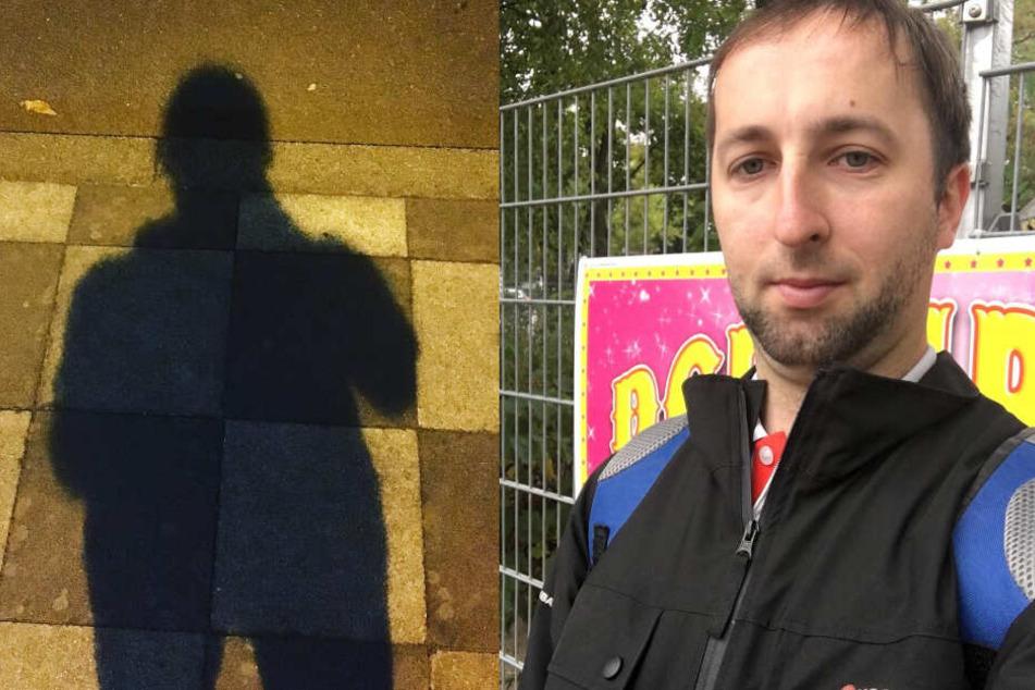 Benjamin Daduschin ist Zugfahrer bei der Hamburger Hochbahn. (Fotomontage)
