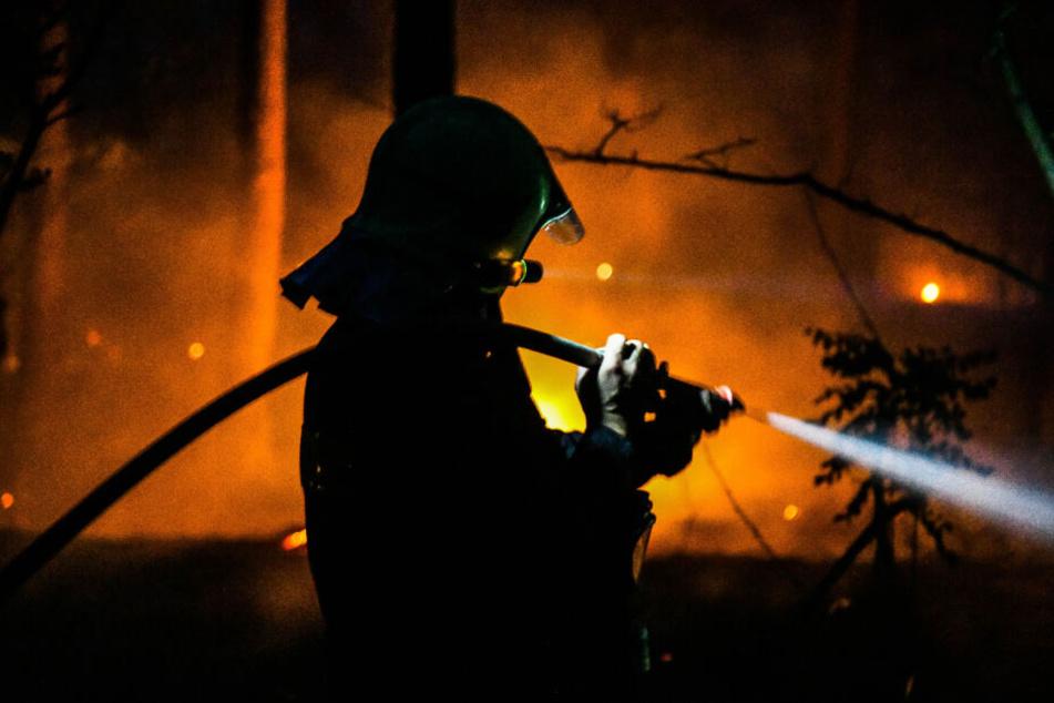 Die Feuerwehr im Dauereinsatz.