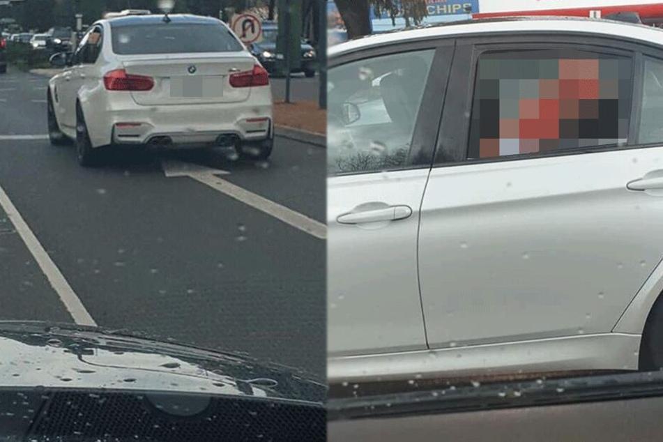 Was in diesem BMW passiert, muss ein Mann sofort fotografieren