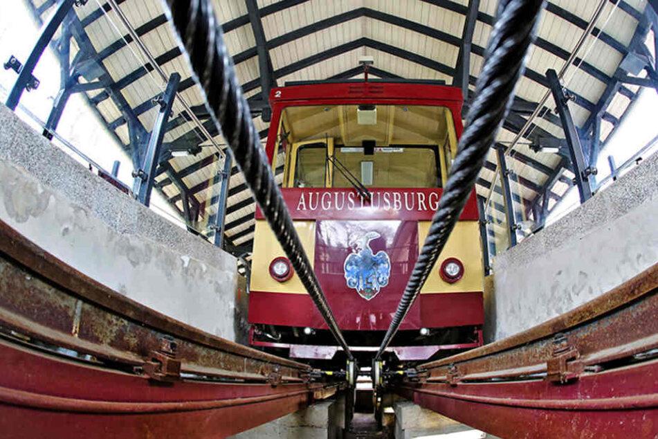 Die Drahtseilbahn Augusutusburg steht seit Sonntag still.