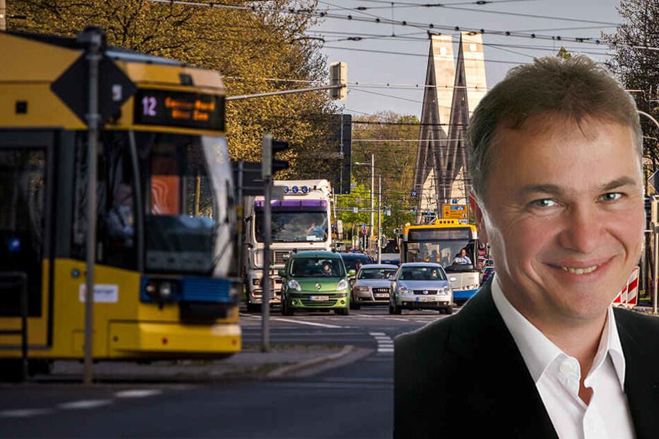 MIT-Chef Ronald Pohle appelliert an Leipzigs Oberbürgermeister Jung, die Zügel in der Verkehrspolitik endlich selbst in die Hand zu nehmen.
