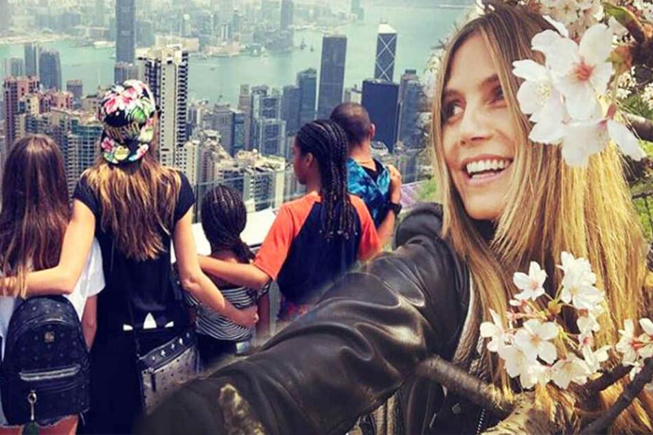 Heidi Klum ist gerade mit ihren vier Kids in Asien unterwegs.