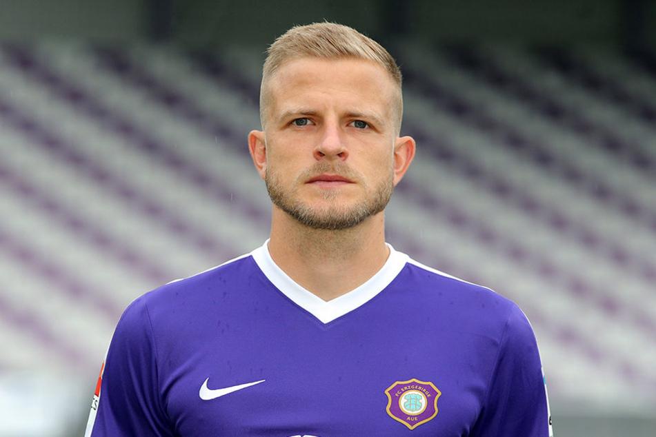 Stürmer Nicky Adler vom FC Erzgebirge Aue.