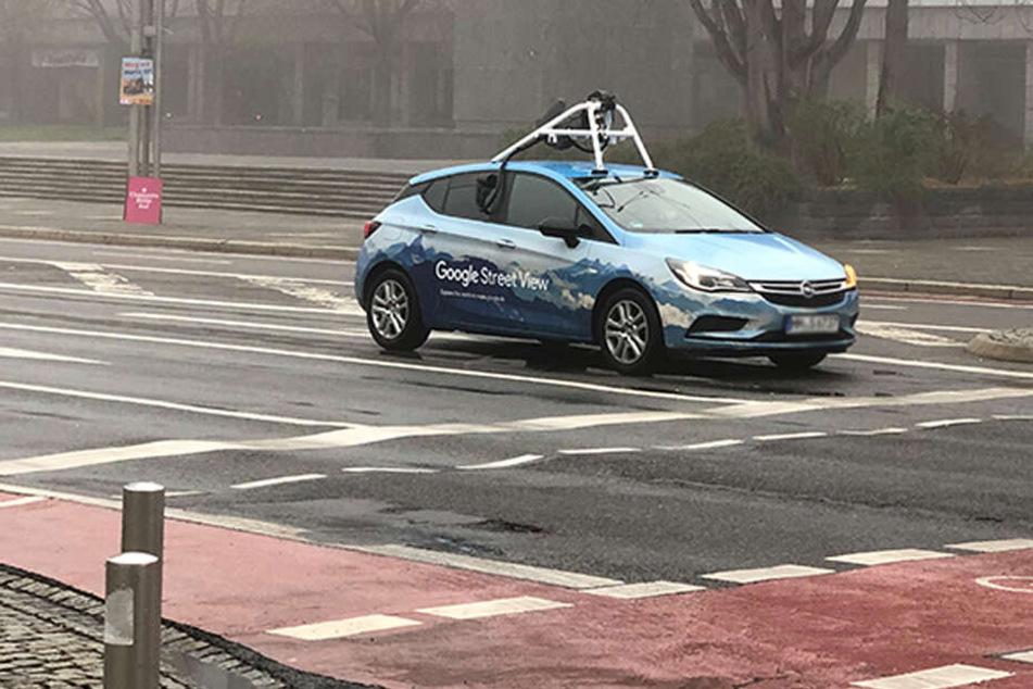 Google Street View-Autos in Chemnitz unterwegs
