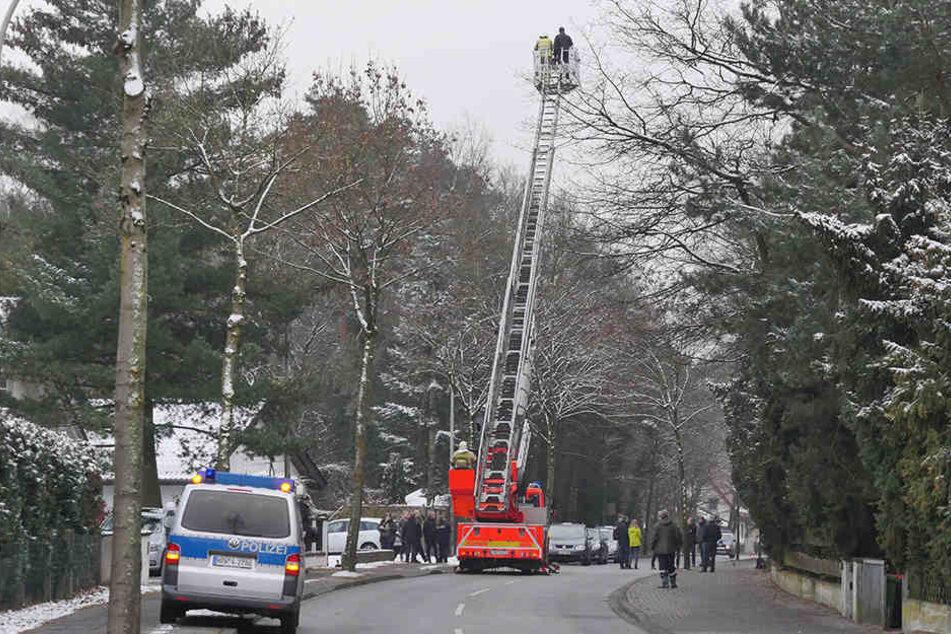 Die Dubelohstraße war für knapp zwei Stunden völlig gesperrt.