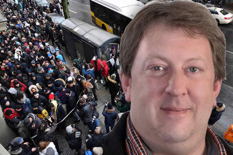 AfD-Politiker Gunnar Lindemann kann über den Witz der BVG-Kampagne gar nicht lachen.