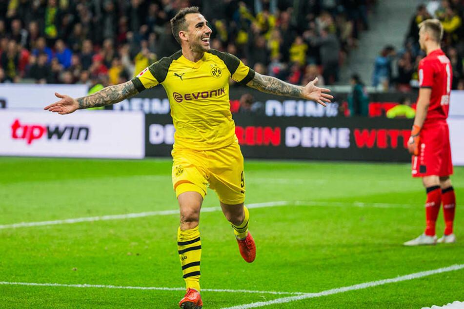 Wird er auch gegen den FC Bayern München wieder jubeln? BVB-Stürmer Paco Alcacer.