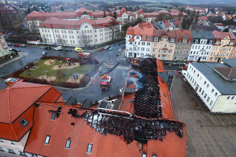 Mitte Februar brannte der Husarenhof in Bautzen, der als Flüchtlingsunterkunft vorgesehen war.