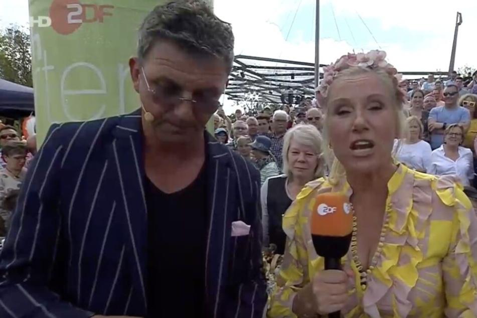 Andrea Kiewel und ihr ständiger Begleiter Hans Sigl.