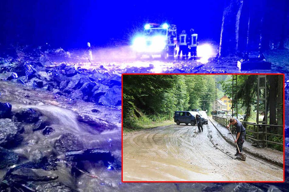Schwere Unwetter sorgen für Straßen-Sperren und Flugausfälle
