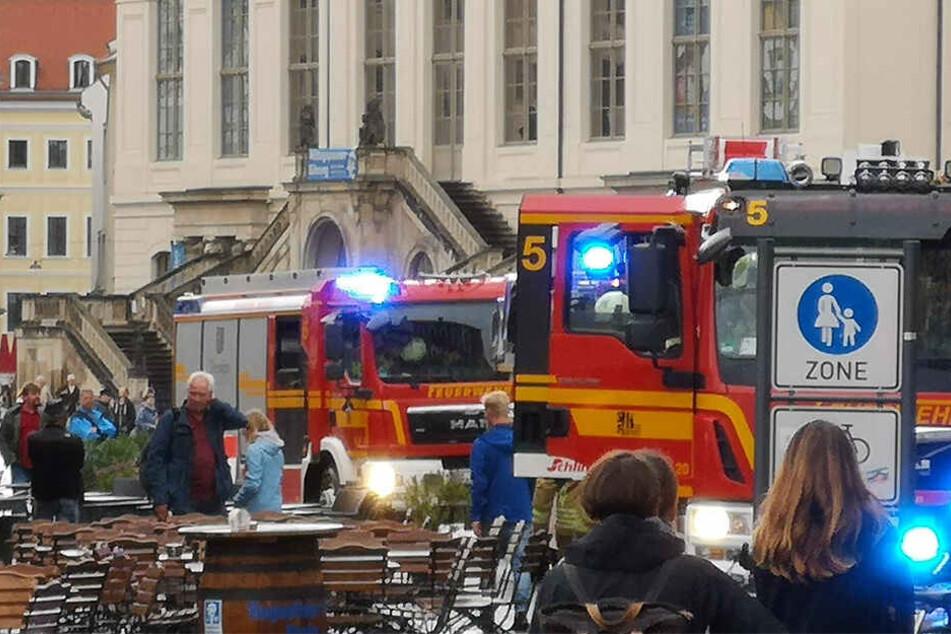 Am Neumarkt sorgte ein Brandmelder für Aufruhr.