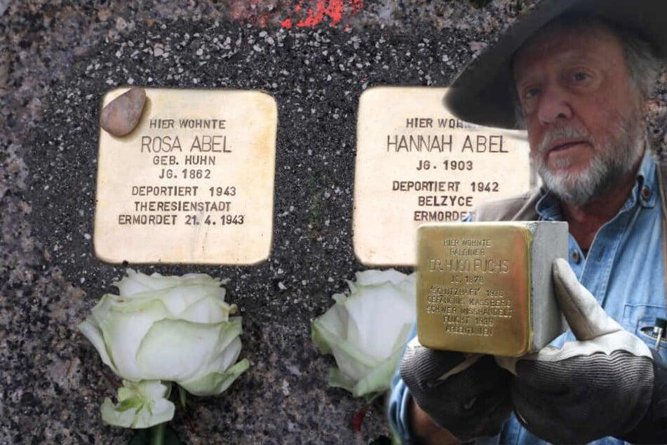 Gunter Demnig erinnert mit seinen Stolpersteinen seit 1996 an die Opfer der NS-Zeit.