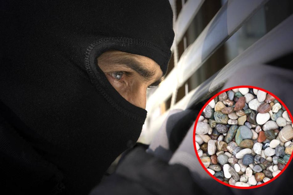 Keine Chance hatten die Einbrecher mit ihren Kieselsteinchen.