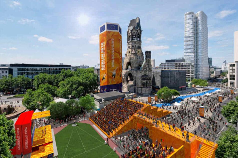 Der Breitscheidplatz wird während der Leichtathletik-EM zur riesigen Open-Air-Arena. (Illustration)