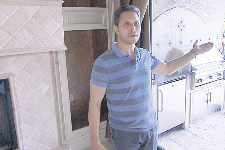 Luxus-Makler Dirk Fischer (47) vermisst in Florida, deutsches Essen und gute Gespräche, das Wetter aber nicht.