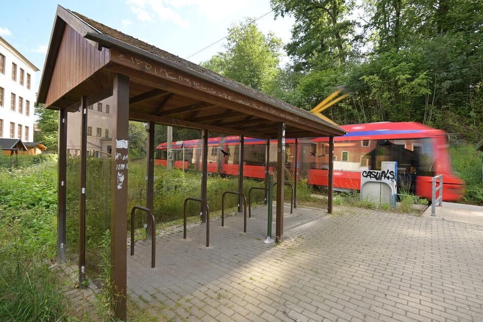 Der überdachte Fahrradstellplatz am Haltepunkt Harthau bekam gute Noten.