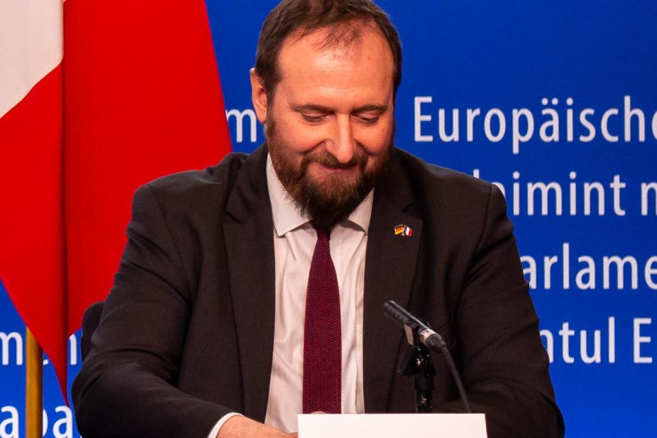 Der französische Vorsitzende der deutsch-französischen Parlamentarier-Versammlung, Christophe Arend (45).