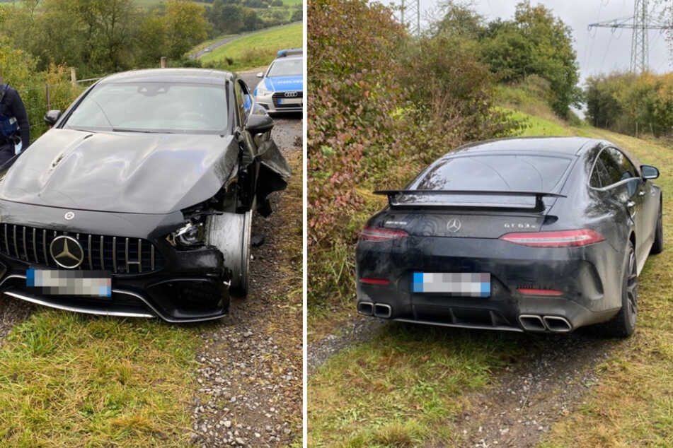Fahndung läuft: Täter sprengen Automaten und lassen teuren Mercedes zurück!