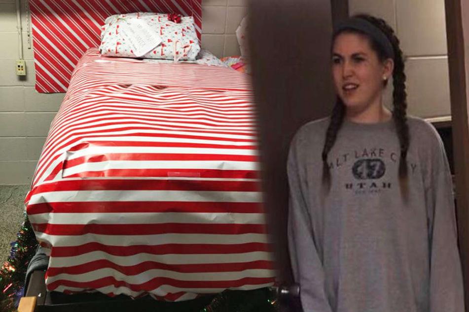 Der Schock war ihr ins Gesicht geschrieben, als Hannah ihr Zimmer sah.