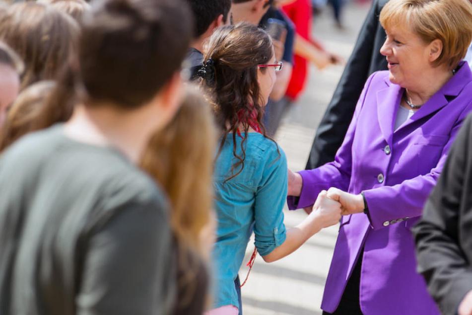 Kanzlerin Angela Merkel (63, CDU) will mit Berliner Schülerin über Europa diskutieren. (Symbolbild)