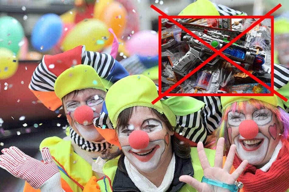 Lachen entwaffnet: Der Leipziger Karnevals e.V. und die Städtische Polizei hoffen auf ein fröhliches und friedliches Spektakel am 26. Februar. (Symbolbild)