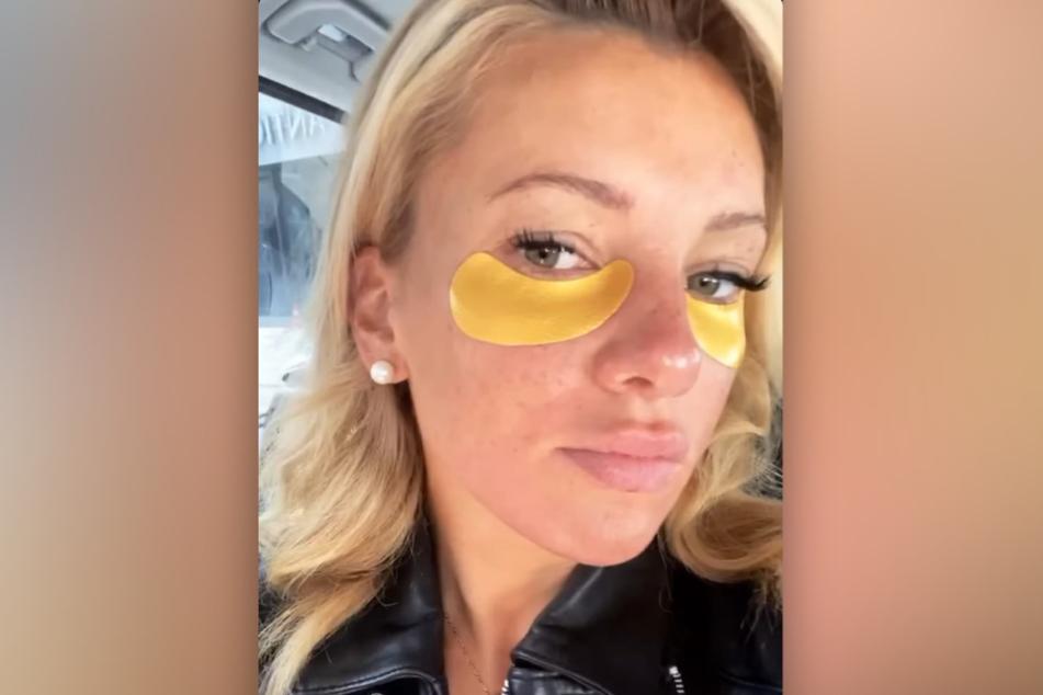 Evelyn Burdecki (31) berichtet bei Instagram von einem Faux Pas: Sie hat sich Cellulite-Creme ins Gesicht geschmiert.