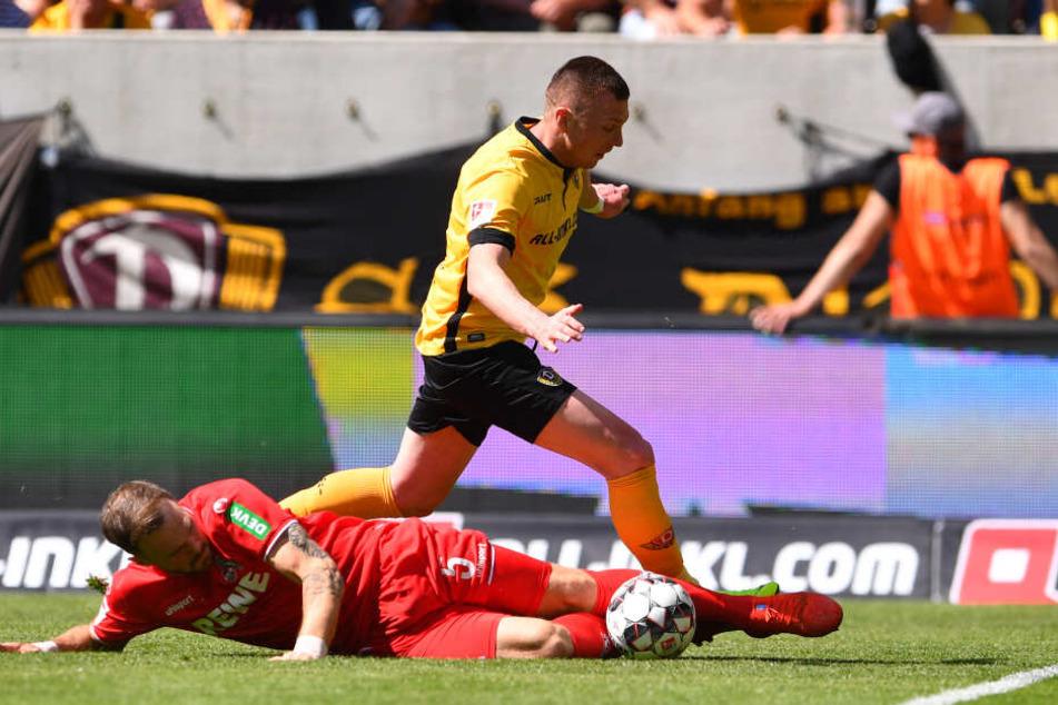 Haris Duljevic schoss in der ersten Halbzeit das 2:0 für Dynamo.