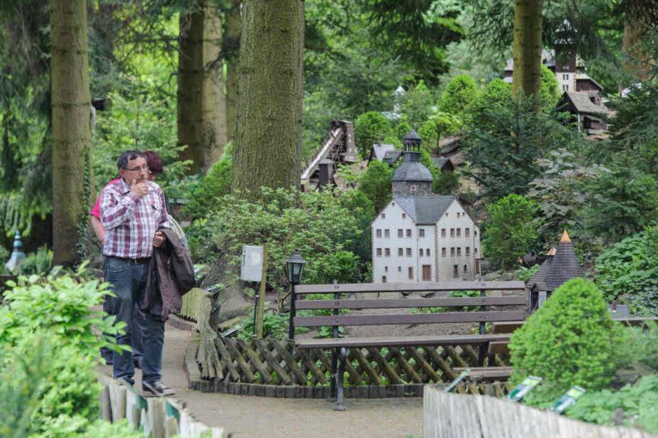 Im Miniaturpark sind die bekanntesten Gebäude und Sehenswürdigkeiten Sachsens ausgestellt.