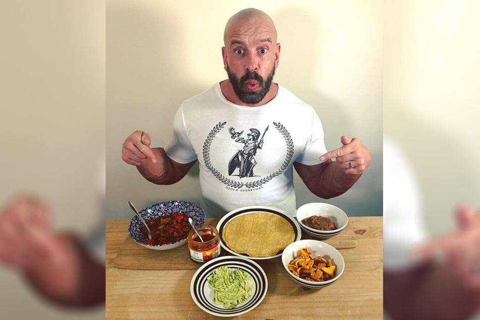 Bei Paul Karton (45) kommt nur Veganes auf den Tisch.