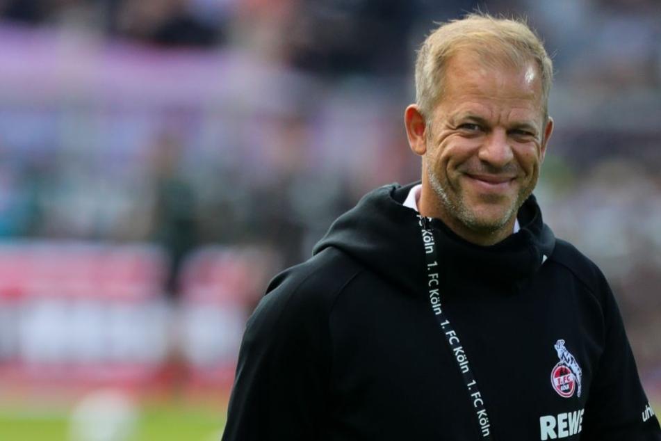 Kann er am Sonntag wieder lächeln? Kölns Trainer Markus Anfang (44).