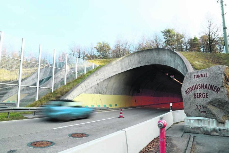 Der Tunnel Königshainer Berge zählt zu den längsten Straßentunneln bundesweit. Die Sanierung wird zum Mammut-Projekt.