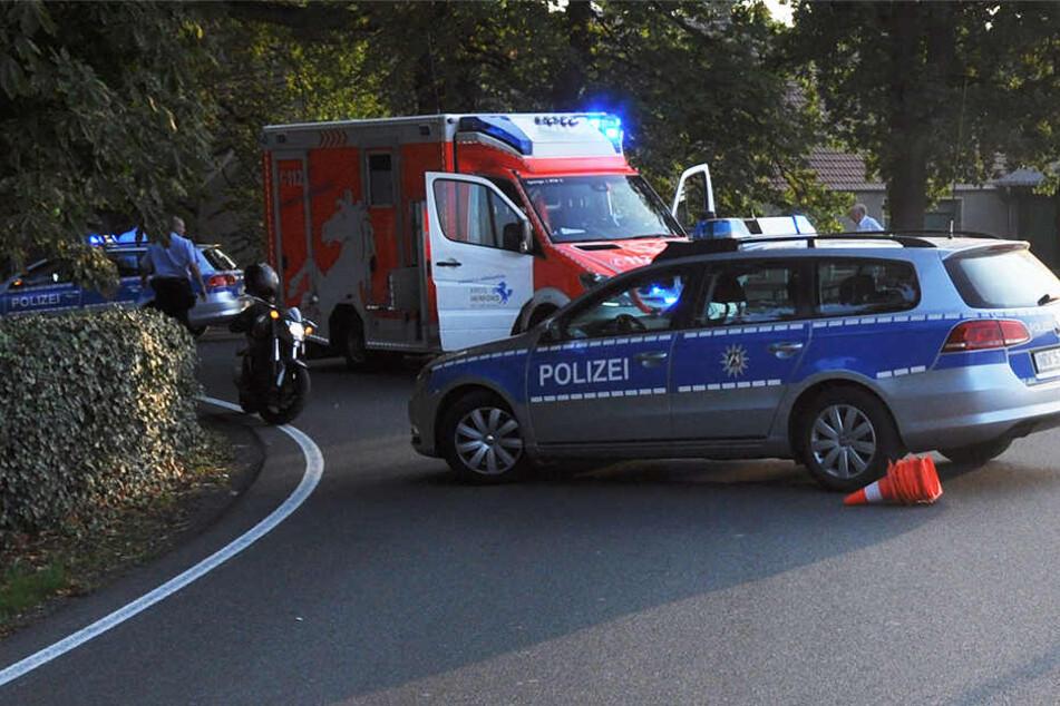 Auf dem Oberahler Weg in Bünde verletzte sich ein Osnabrücker schwer.