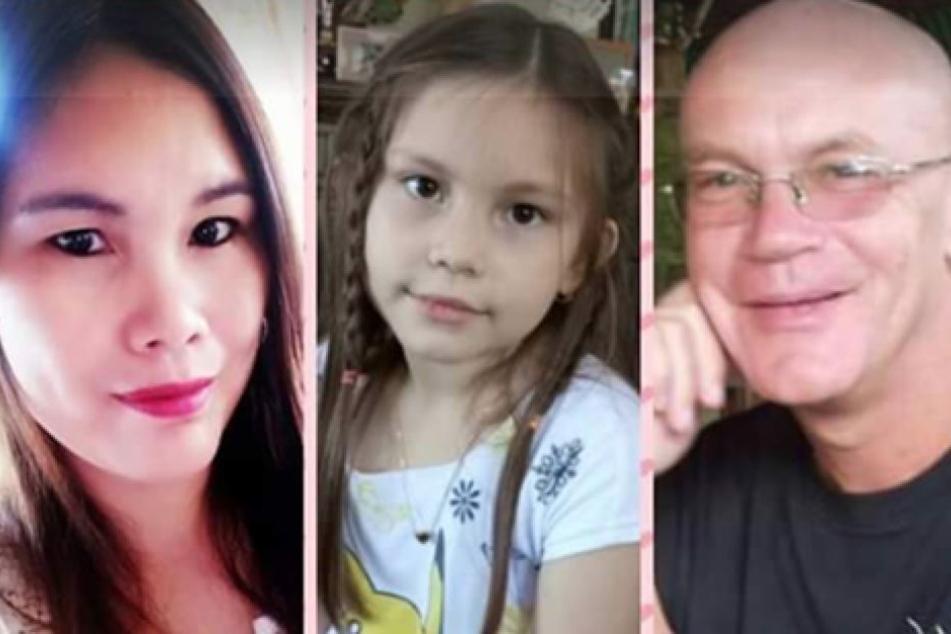 Ronnie L. (59) mit seiner Frau und Tochter. Die Familie lebt auf den Philippinen.