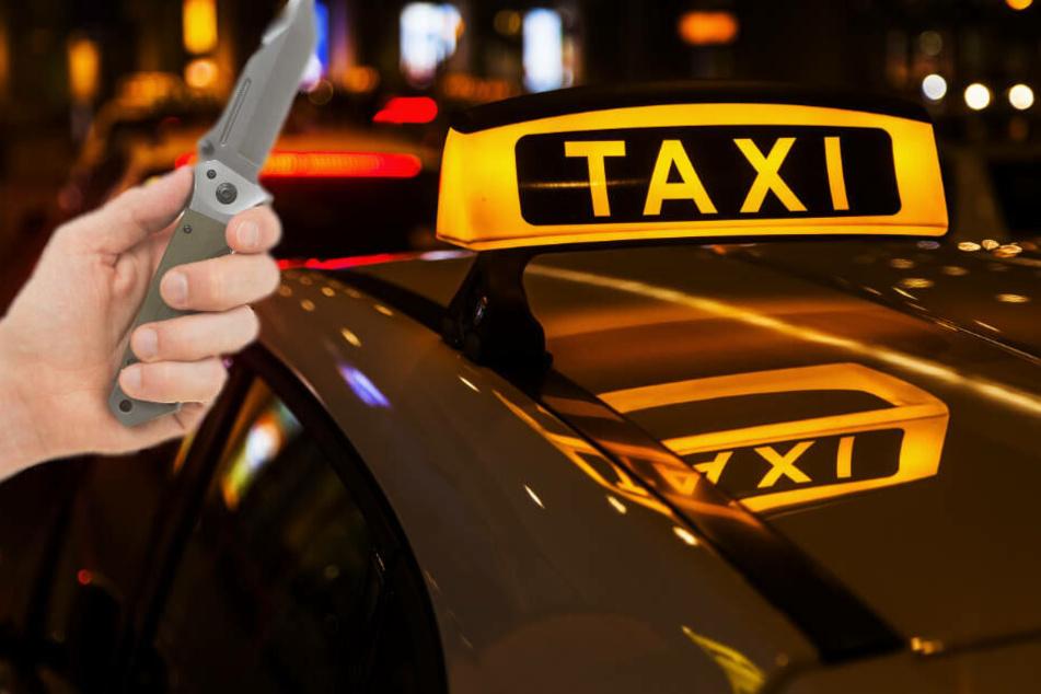 Beim Gerangel mit dem Taxi-Fahrer um dessen Geldbörse zückte der Täter ein Messer.