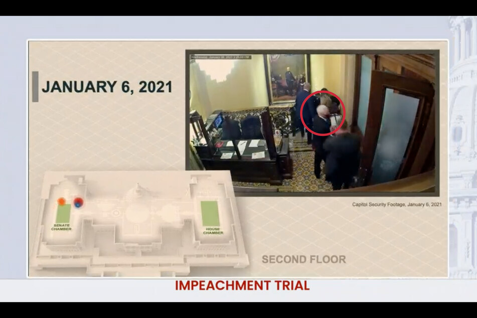 Second day of Trump impeachment trial features shocking new footage of Capitol attack