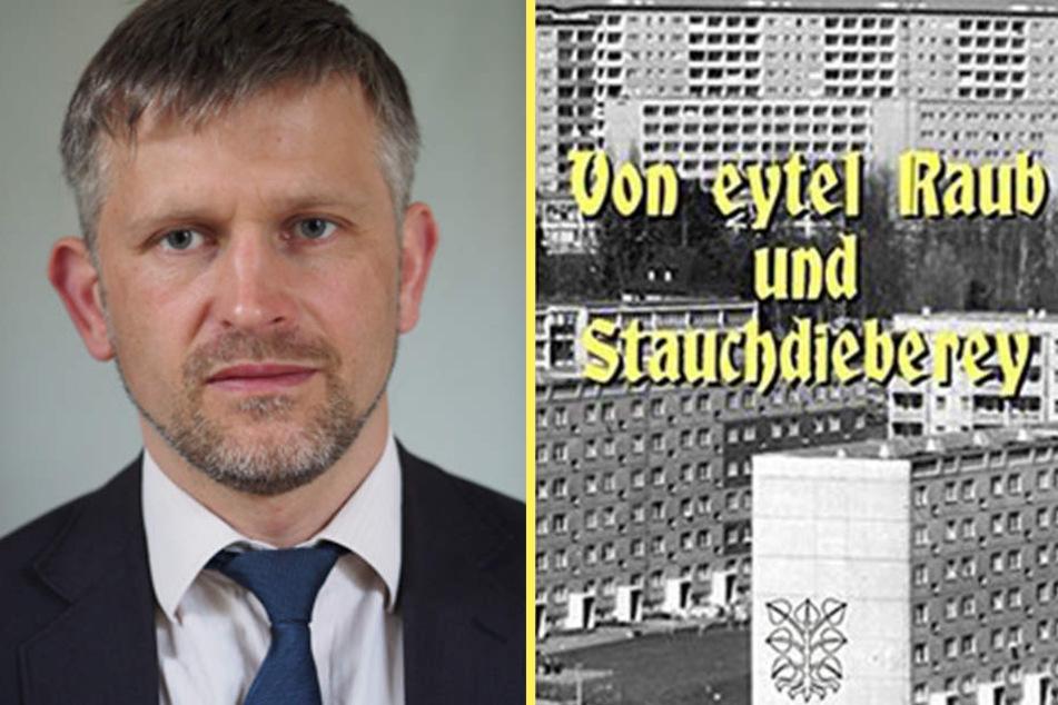 Künstler Sebastian Hennig (44) hat das Bankräuber-Manuskript von einem  Unbekannten zugespielt bekommen. Die Geschichten sind wahr.