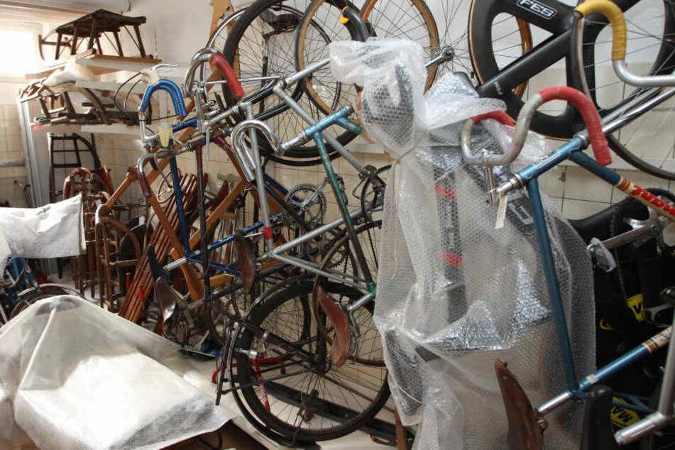 Derzeit lagern die rund 85.000 Ausstellungsstücke des Sportmuseums in einem Keller.