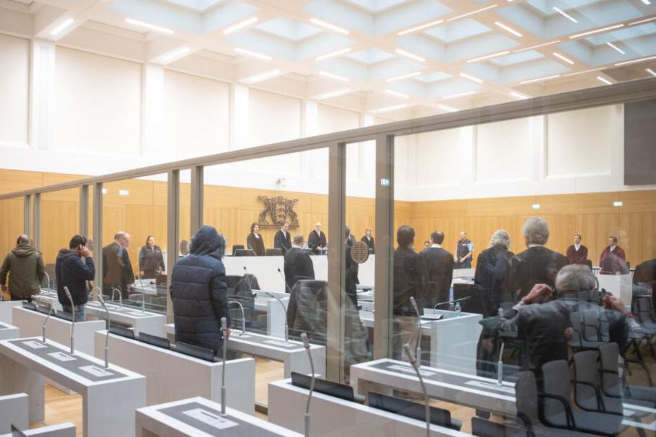 Der Gerichtssaal in Stuttgart.