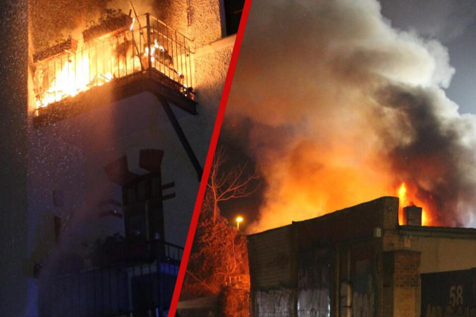 Balkon, Dachstuhl, Lagerhalle: Das waren Leipzigs schlimmste Silvester-Brände