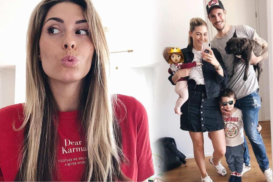 Natalie Grahl (26) ist Zweifach-Mama und postet auf Instagram gerne über ihr privates Familienleben. (Fotomontage)