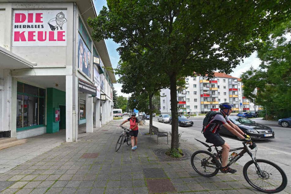 Der alte Standort der Herkuleskeule am Sternplatz.
