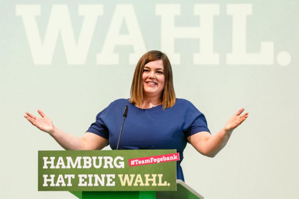 Katharina Fegebank, Bürgermeisterkandidatin zur Bürgerschaftswahl 2020 und Zweite Bürgermeisterin.