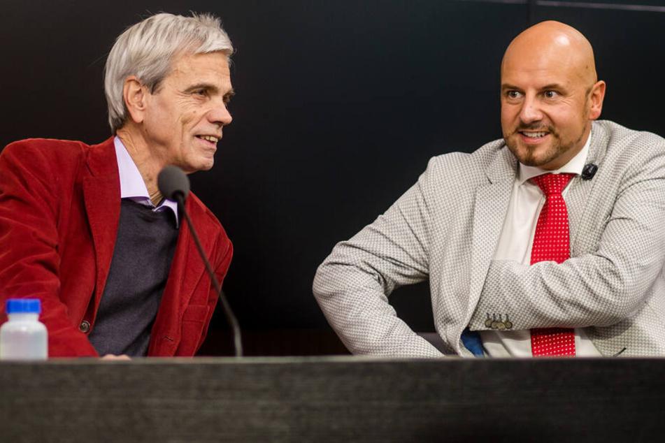 Wollen am Dienstag gemeinsam eine Pressekonferenz geben (v.l.): Wolfgang Gedeon und Stefan Räpple.