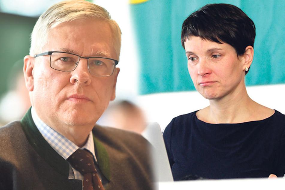 Roland Ulbrich (56) gehört zum ultarechten AfD-Flügel. Er will Frauke Petry (41) Platz eins streitig machen.