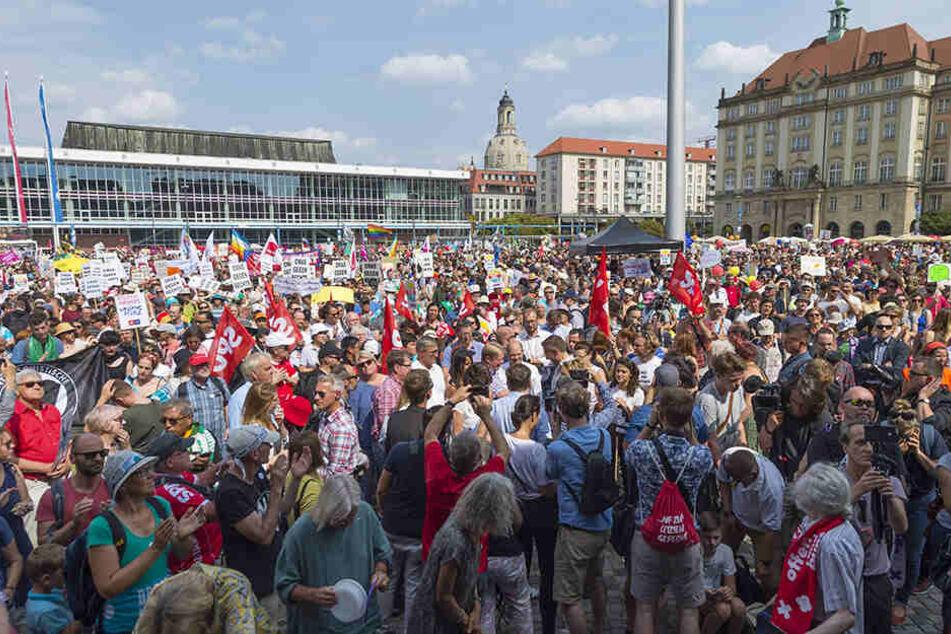 Am Altmarkt war Startpunkt der Großdemonstration.