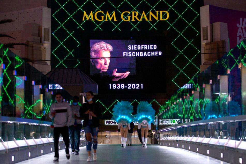 Auch das MGM Grand Hotel-Casino erinnerte an Siegfried Fischbacher.